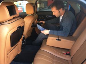 Intérieur de la nouvelle Jaguar XJ version Longue
